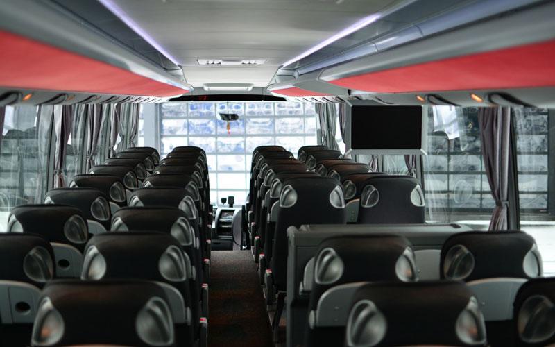 coach bus inside - coach bus for rental inside
