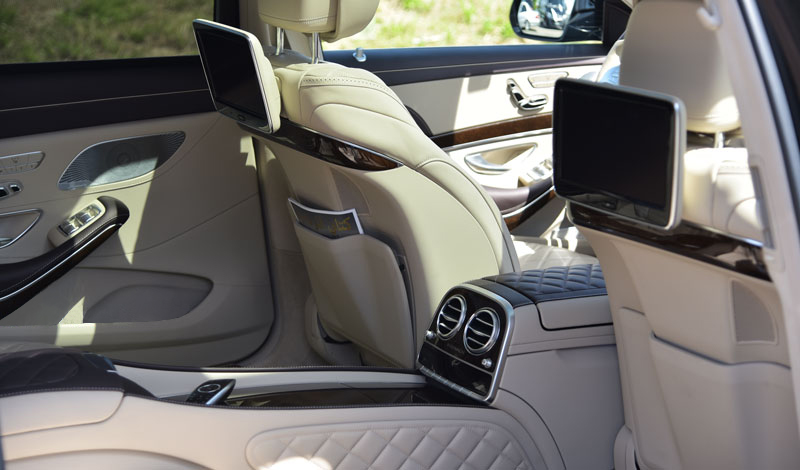 mercedes maybach inside - edelswiss mercedes maybach limo