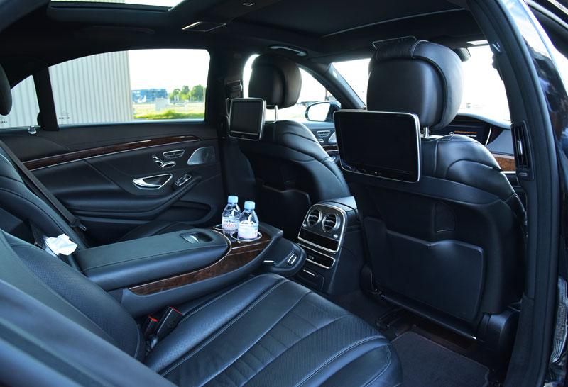 mercedes s class limousine inside