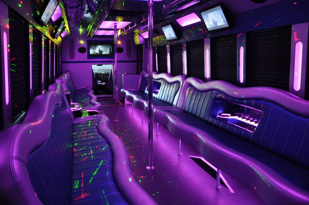 limousine van with a stripper pole