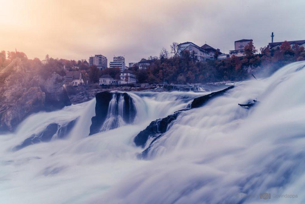 rhine falls near zurich - rhine falls suitable for instagram