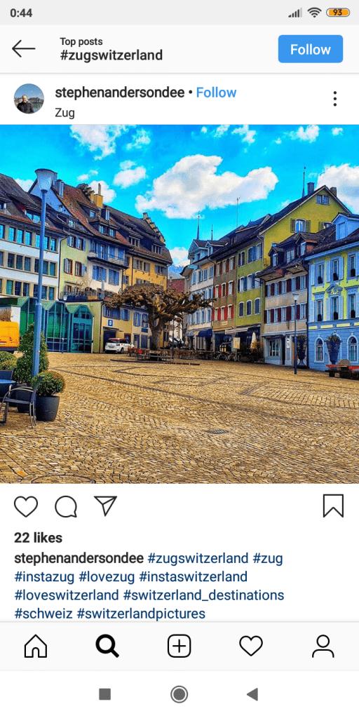 zug Switzerland - the most instagrammable place switzerland
