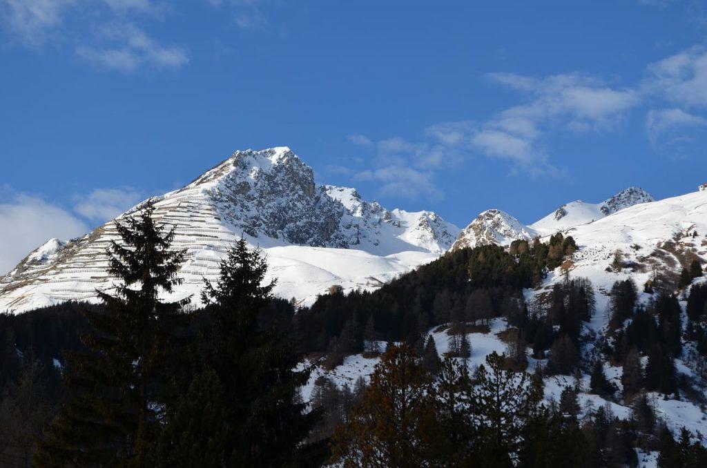 mountains over davos
