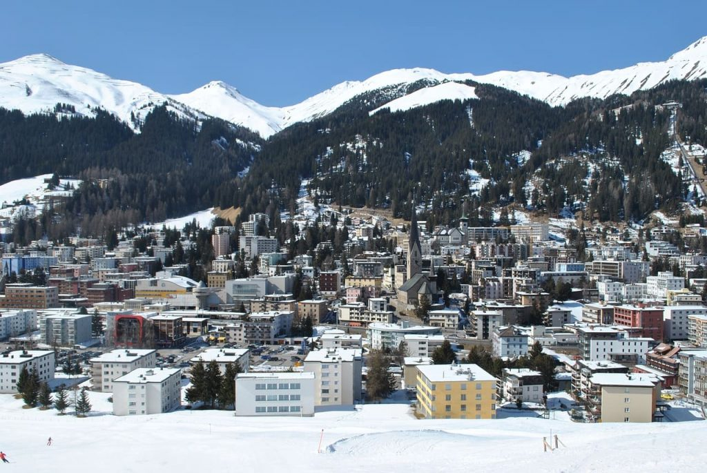 davos from the distance - davos place for family - view over davos