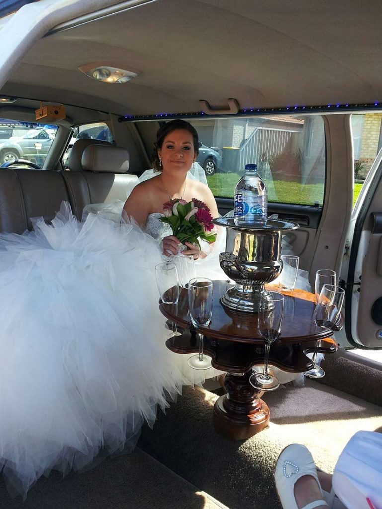 limo service for a wedding