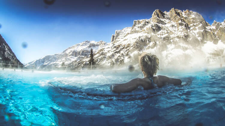thermal water in st moritz