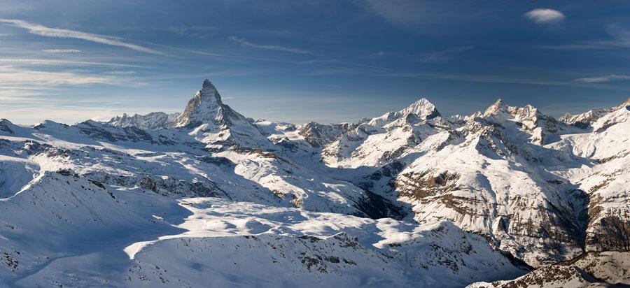 zermatt switzerland - zermatt panorama - switzerland - hire a car to zermatt - limo hire zermatt