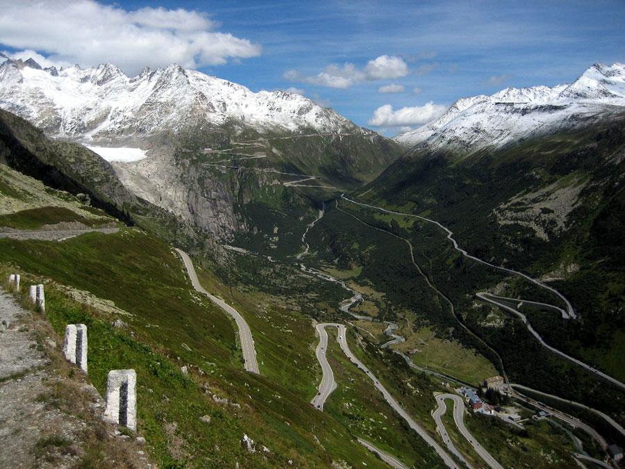furka pass - furka pass to zermatt - road to zermatt