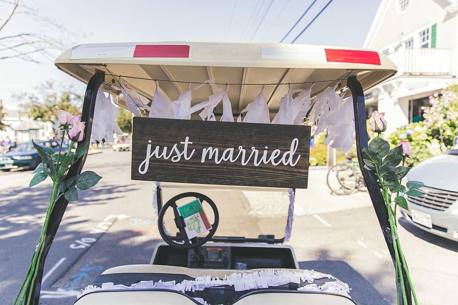 unusual wedding vehicle