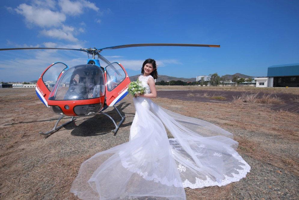 wedding chopper - wedding helicopter
