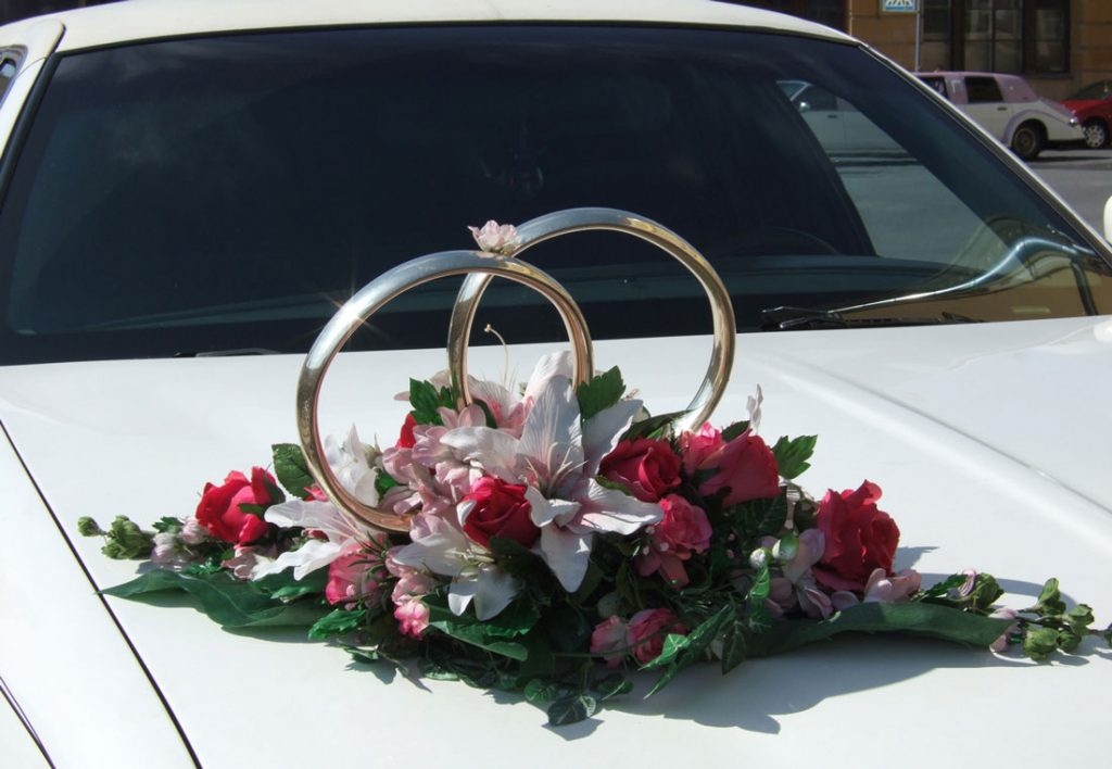 wedding limousine decoration - wedding limo decoration