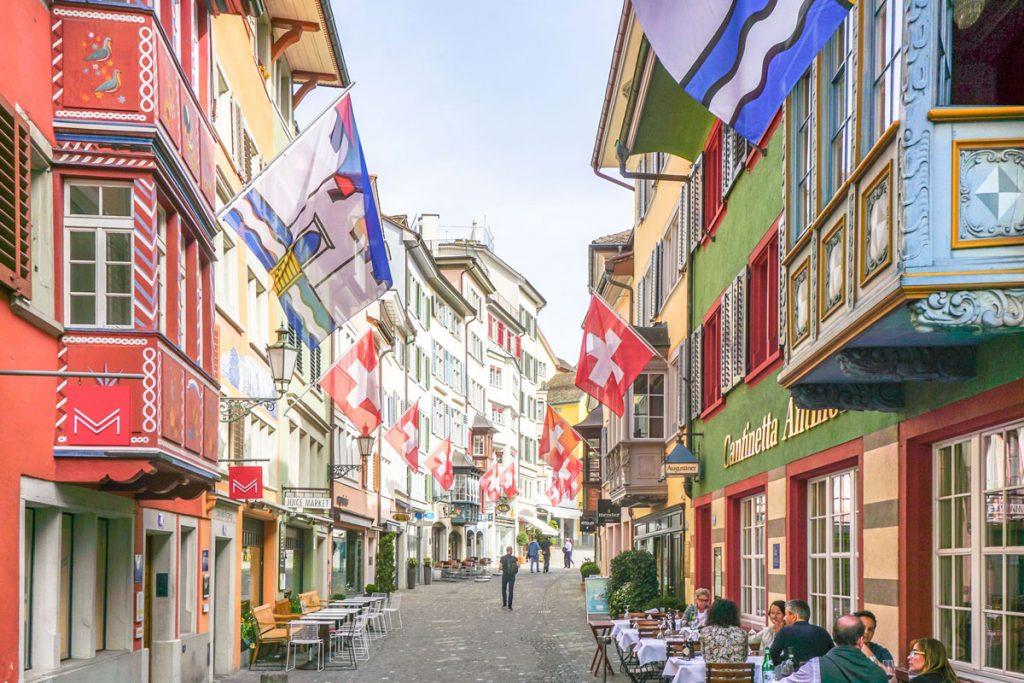 zurih old town - old town in zurich switzerland
