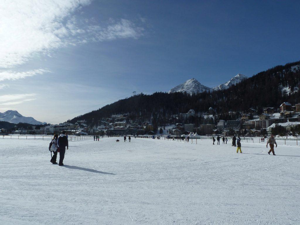 lake st moritz - frozen lake st moritz - st moritz lake winter