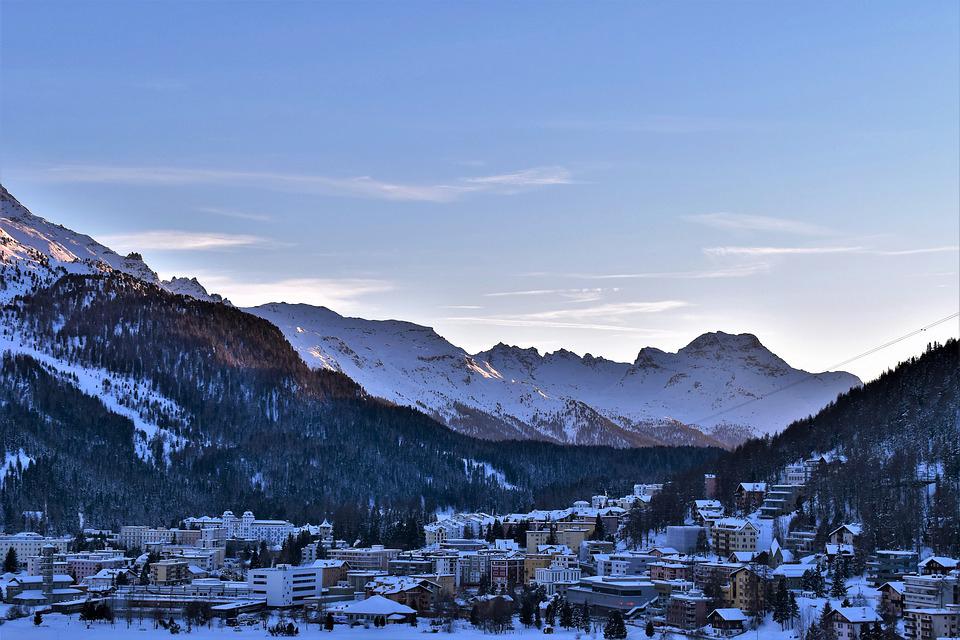 ski area st moritz - mountains above st moritz winter - snowy mountains st moritz